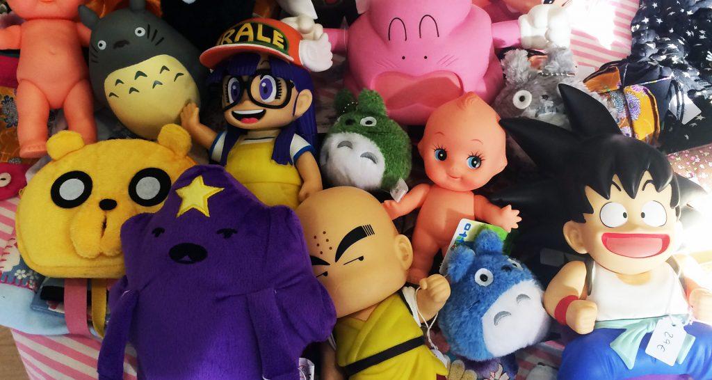 en pika pika shop tenemos productos de totoro, rilakkuma, hora de aventuras, arale, saylor moon, dragon ball, kewpie, sonny angel, doreamon y un montón de clásicos nipones
