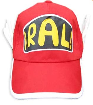 Con esta gorra y unas gafas ya tienes el cosplay de ARALE, OYO! Gorra roja de Arale, con alas a los lados y parte trasera adaptable.