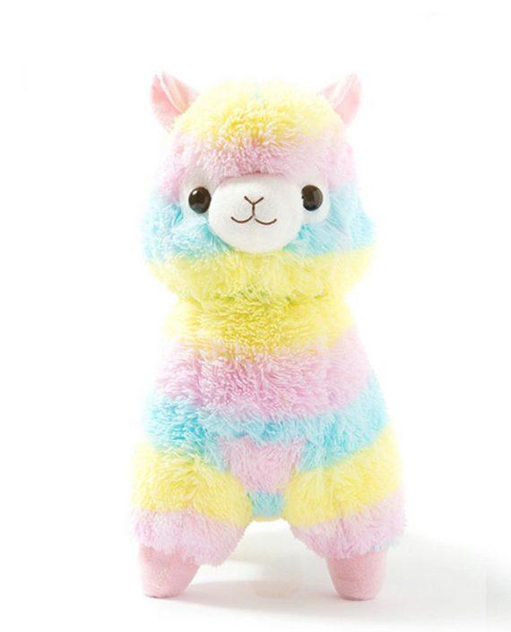 peluche alpaca rainbow