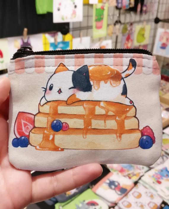 monedero gato tortitas