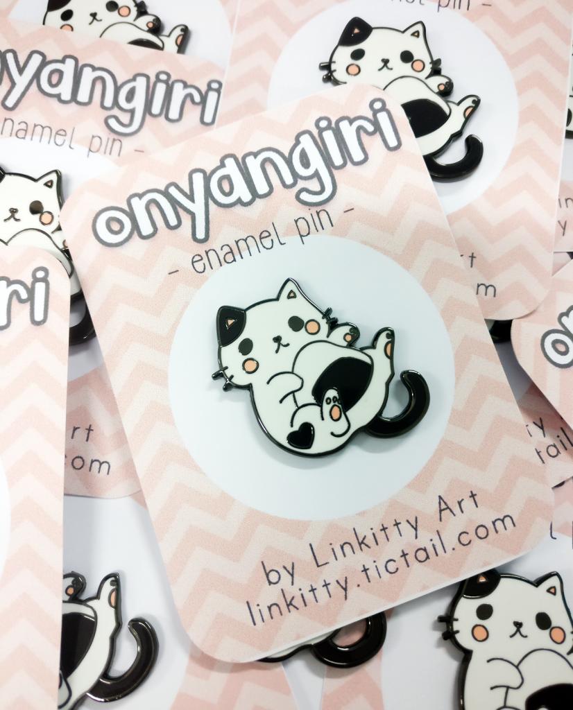 pin onigiri cat