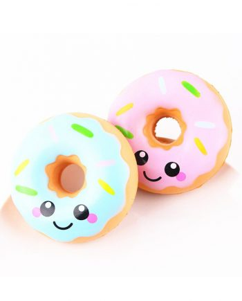 squishy kawaii donut rosa azul