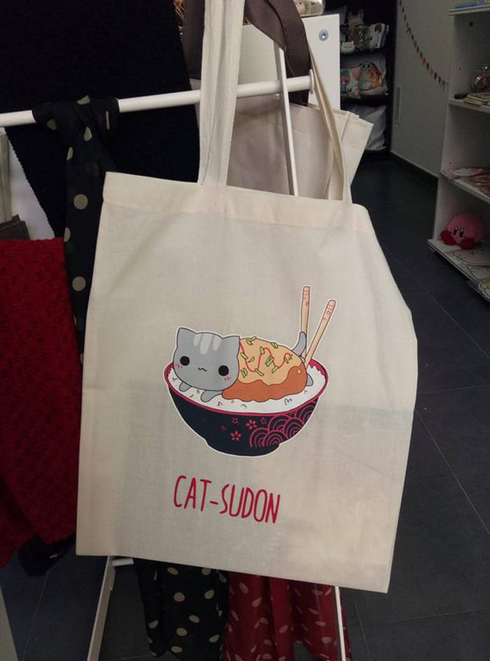 Bolsa tipo tote bag de Catsudon