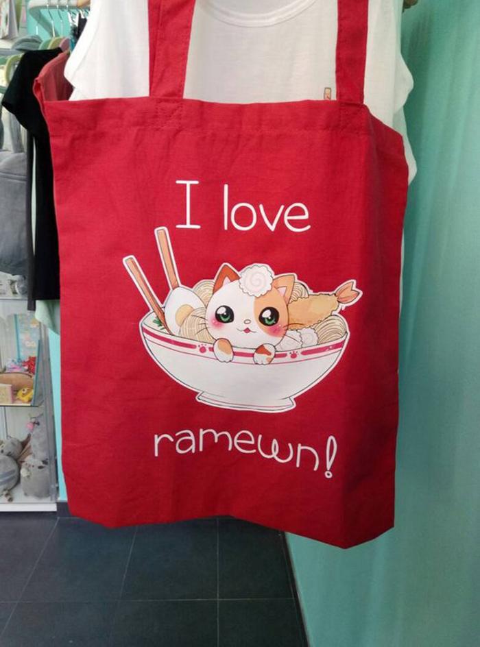 Bolsa tote bag Ramen cat