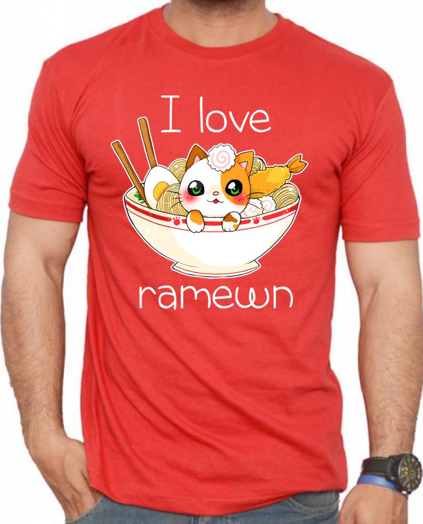 camiseta ramen cat