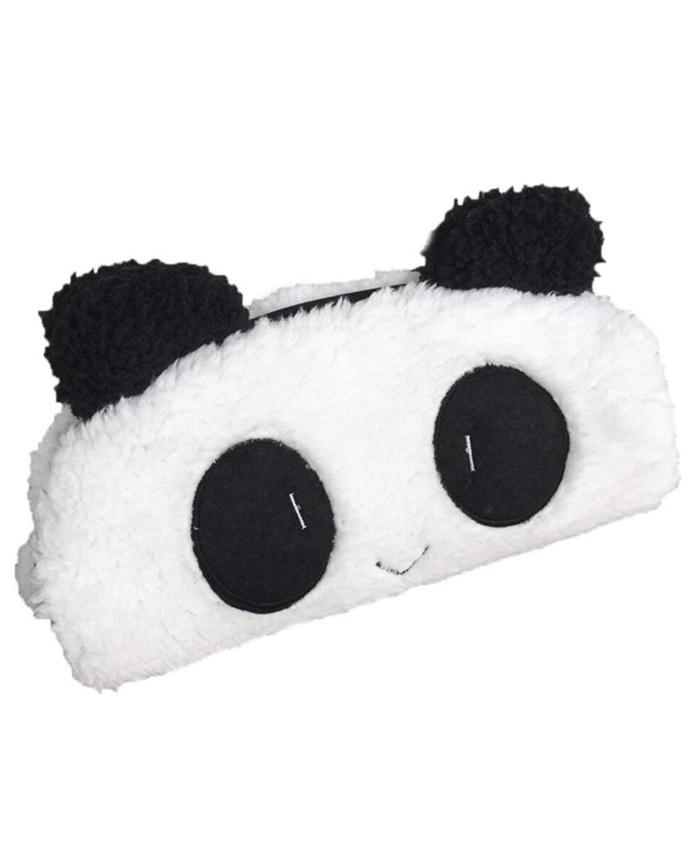 estuche fluffy panda peluche