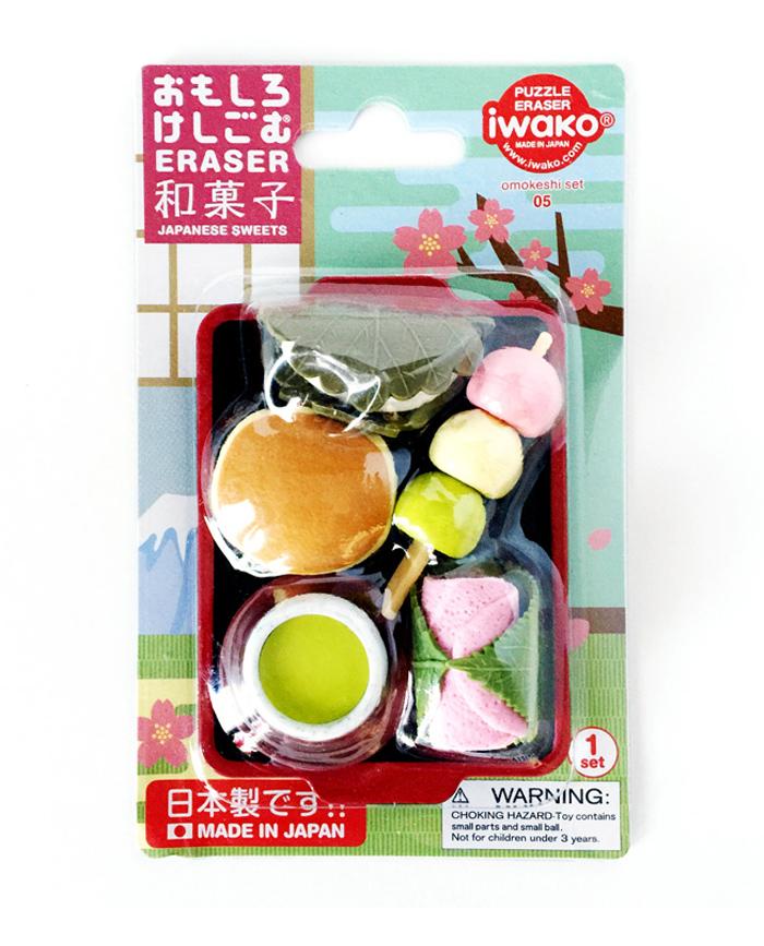 set gomas iwako dulces japoneses