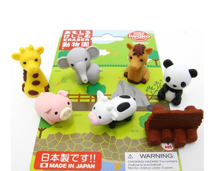 gomas de borrar iwako zoo