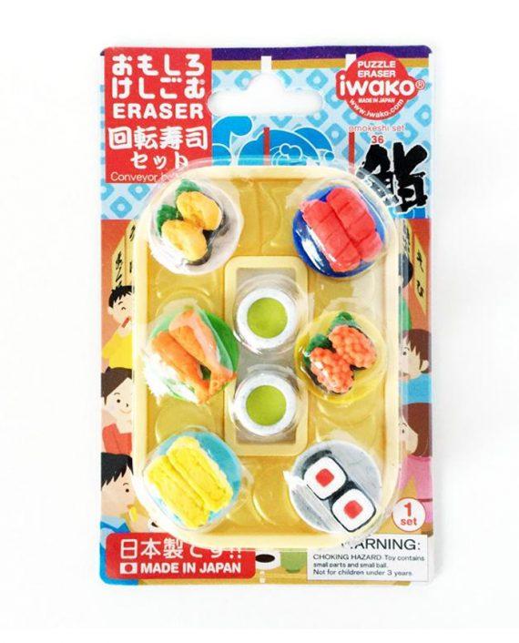 goma borrar iwako sushi conveyor