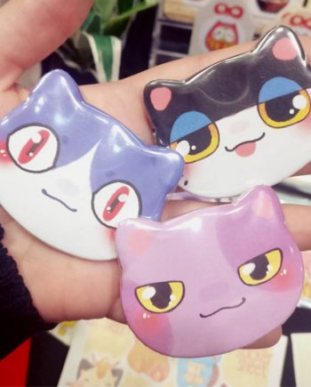 chapas gato animal crossing