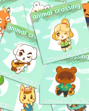 enamel pin animal crossing