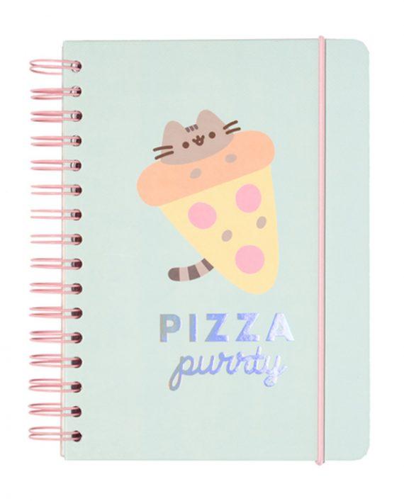 cuaderno pizza pucheen kawaii