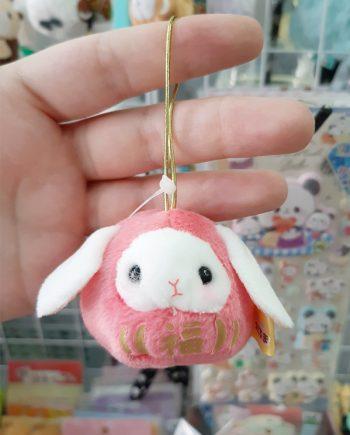 llavero kawaii conejo daruma