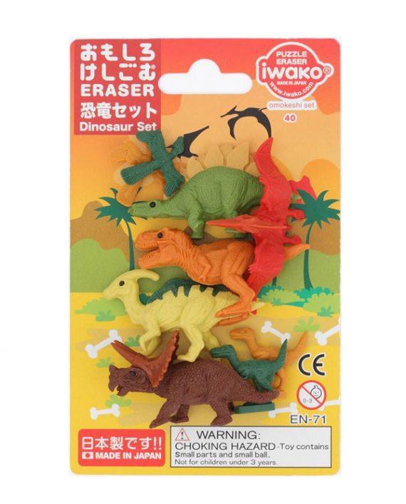 Gomas borrar dinosaurios iwako