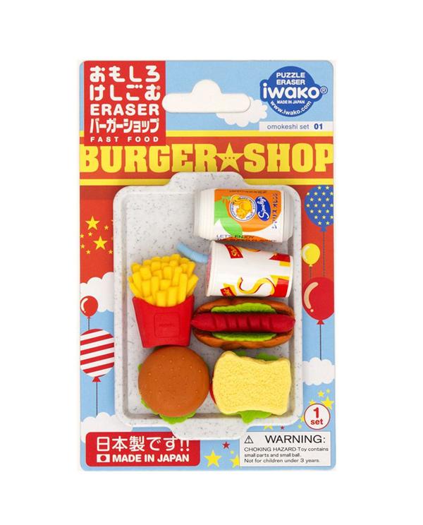 gomas borrar burger iwako