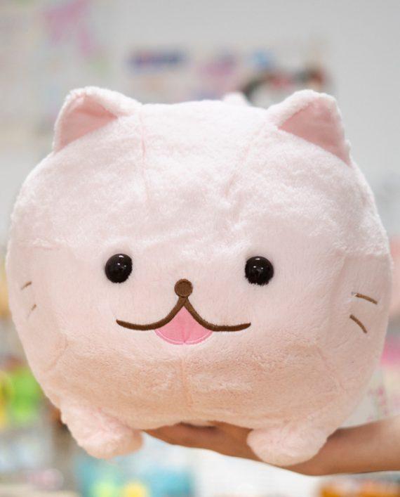 Peluche gato rosa grande